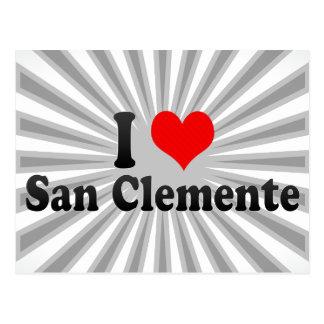 I Love San Clemente, United States Postcard