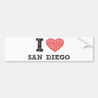 I Love San Diego Bumper Sticker