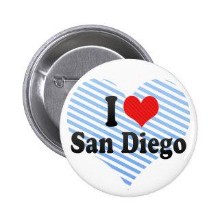 I Love San Diego Pins