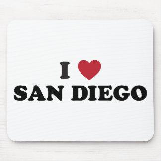 I Love San Diego California Mouse Pad