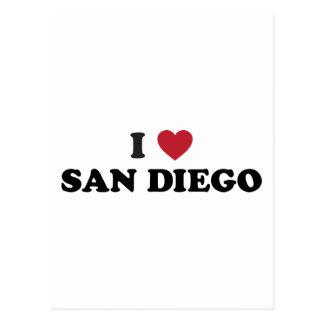 I Love San Diego California Postcard