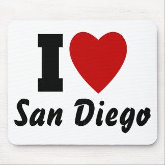 I Love San Diego Mouse Pad