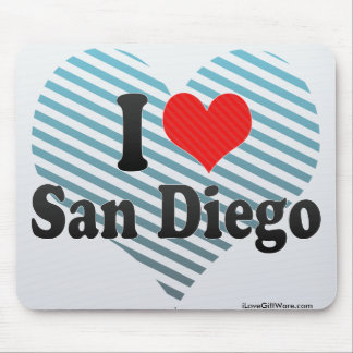 I Love San Diego Mouse Pads