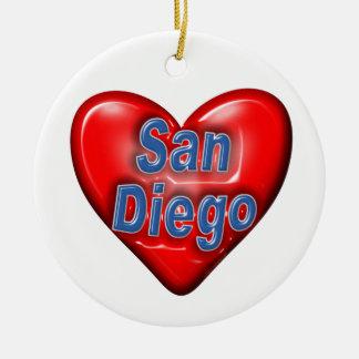 I Love San Diego Ornament