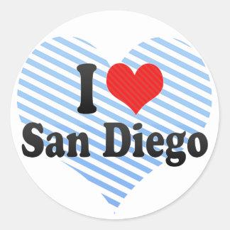 I Love San Diego Stickers