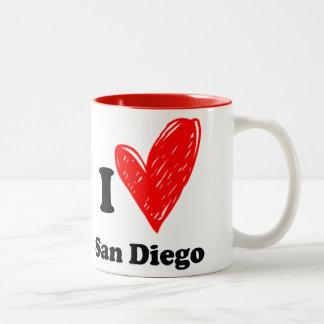 I love San Diego Two-Tone Coffee Mug