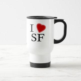 I Love San Fran 15 Oz Stainless Steel Travel Mug