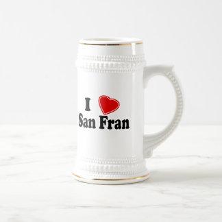 I Love San Fran 18 Oz Beer Stein