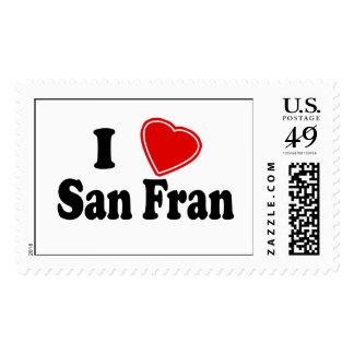 I Love San Fran Postage Stamps