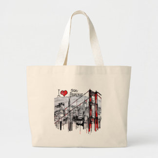 I love San Francisco Jumbo Tote Bag