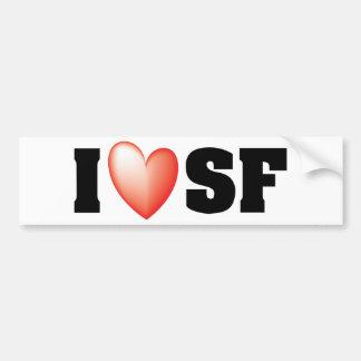 I Love San Francisco Car Bumper Sticker