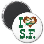 I love San Francisco Cable Cars 2 Inch Round Magnet