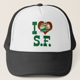 I love San Francisco Cable Cars Trucker Hat