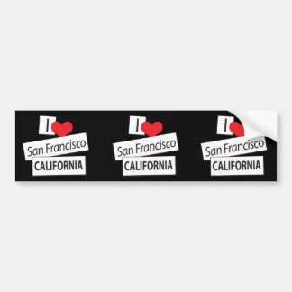 I Love San Francisco California Car Bumper Sticker