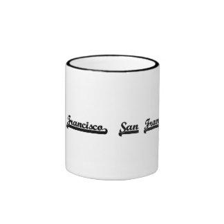 I love San Francisco California Classic Design Ringer Coffee Mug