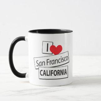 I Love San Francisco California Mug