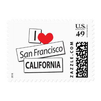 I Love San Francisco California Stamp
