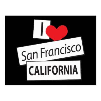 I Love San Francisco California Postcards