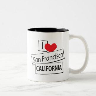 I Love San Francisco California Two-Tone Coffee Mug