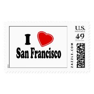 I Love San Francisco Postage Stamps