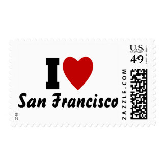 I Love San francisco Stamps