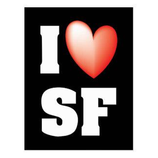 I Love San Francisco Postcard