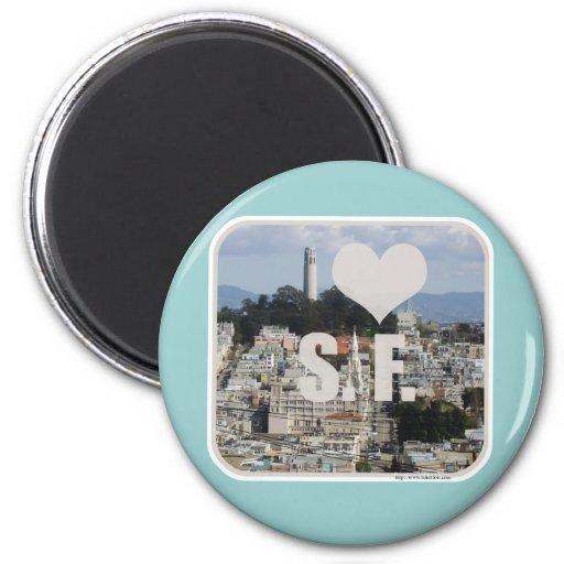 I Love San Francisco Refrigerator Magnets