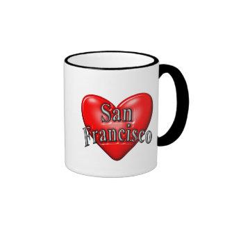 I Love San Francisco Ringer Mug