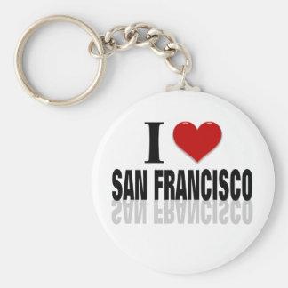 I Love San Franciso Basic Round Button Keychain
