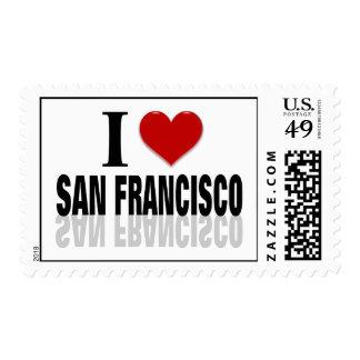 I Love San Franciso Postage Stamp