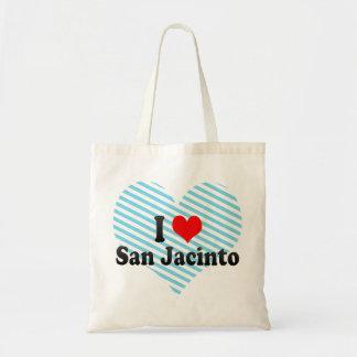 I Love San Jacinto, United States Budget Tote Bag