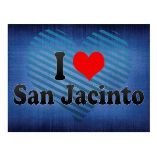I Love San Jacinto, United States Postcard