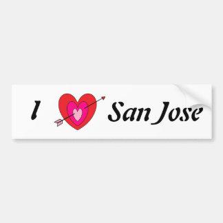 I Love San Jose Bumper Sticker* Bumper Sticker