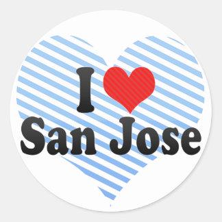 I Love San Jose Round Stickers