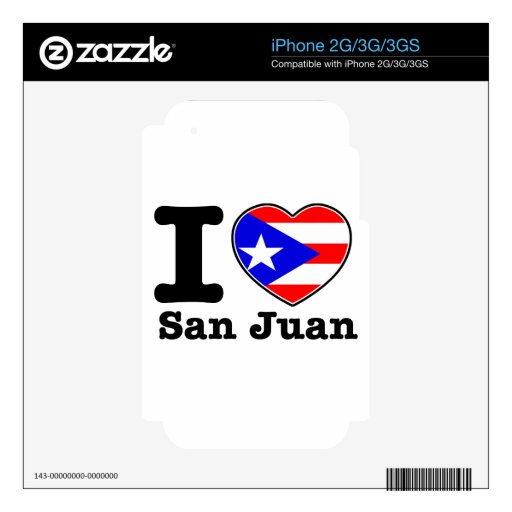 I love San Juan iPhone 3G Skins