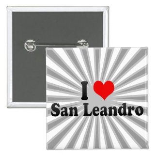 I Love San Leandro, United States Buttons