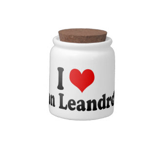 I Love San Leandro, United States Candy Jars