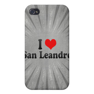 I Love San Leandro, United States iPhone 4 Covers