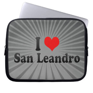 I Love San Leandro, United States Laptop Computer Sleeves