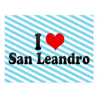 I Love San Leandro, United States Postcard