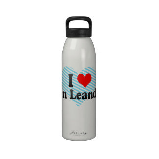 I Love San Leandro, United States Water Bottles