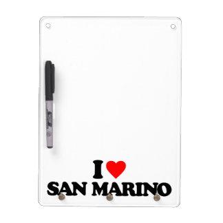 I LOVE SAN MARINO DRY ERASE BOARD