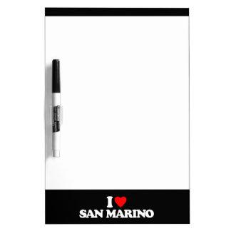 I LOVE SAN MARINO Dry-Erase WHITEBOARD