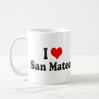 I Love San Mateo, United States Classic White Coffee Mug