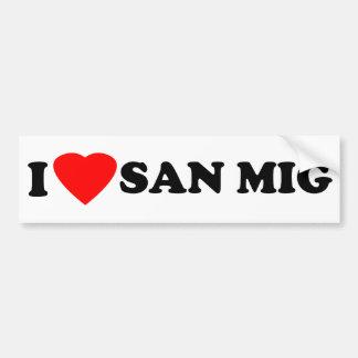 I Love San Mig Car Bumper Sticker