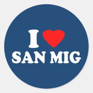 I Love San Mig Sticker