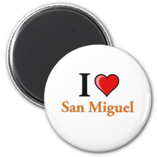 I Love San Miguel 2 Inch Round Magnet
