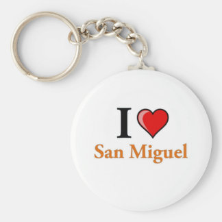 I Love San Miguel Basic Round Button Keychain