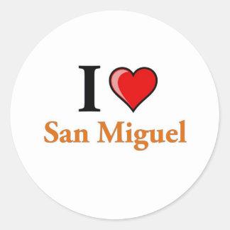 I Love San Miguel Classic Round Sticker