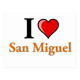 I Love San Miguel Postcard